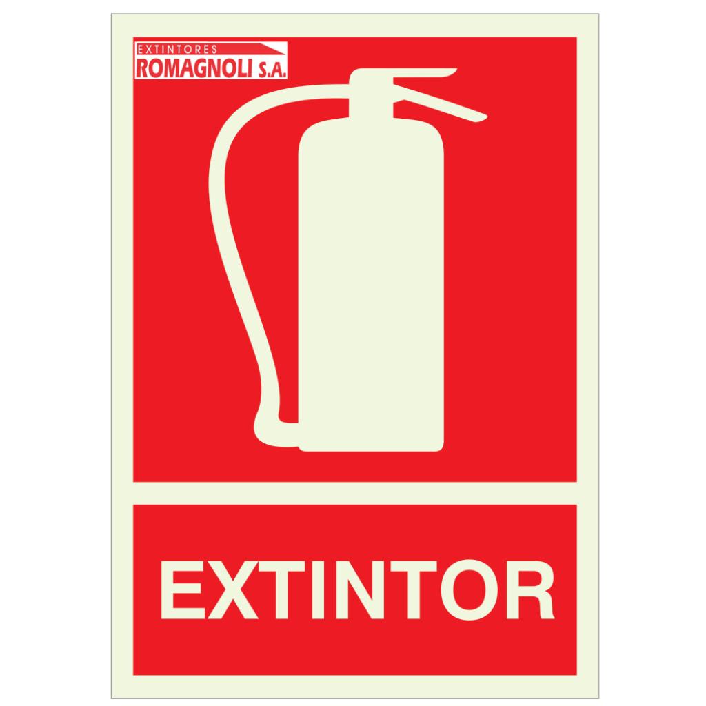 Cartel Fotoluminicente Extintor