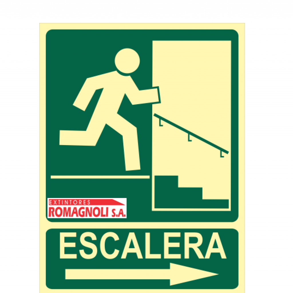 Cartel Salida Escalera