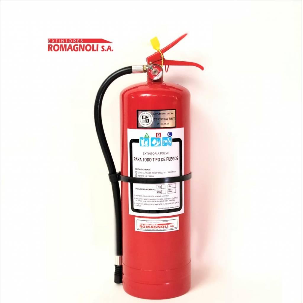 Extintor polvo ABC  8kg