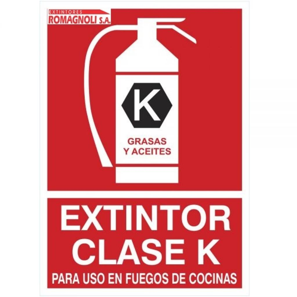 Cartel Fotoluminicente Extintor Clase K